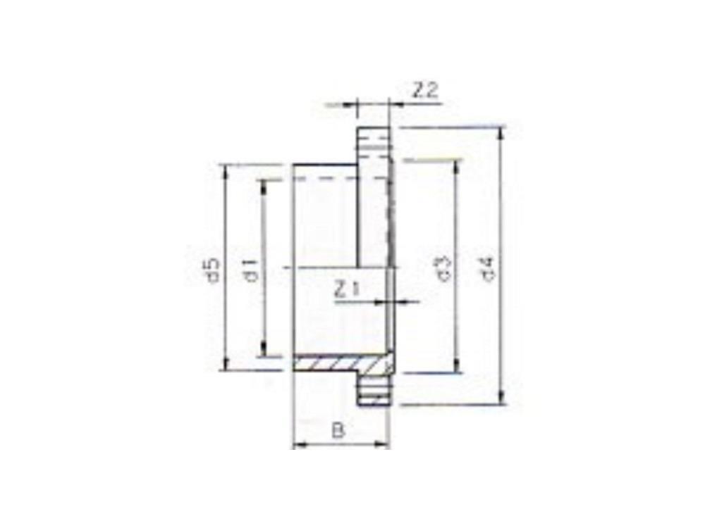 Blank flange Ø160mm pvc
