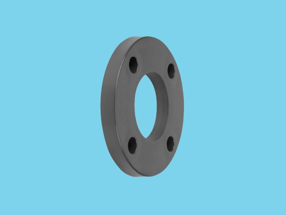 Backing flange 63 pvc PCD 122, thickness 18mm, 4x 16mm pvc