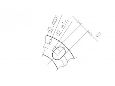Backing flange 63 pvc PCD 122, thickness 18mm, 4x 16mm pvc