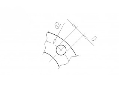 Backing flange 110 pvc PCD 180, thickness 22mm, 4x 16mm pvc