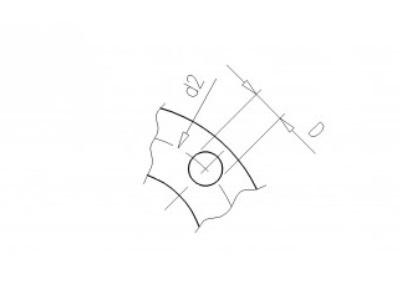 Backing flange 280 pvc PCD 350, thickness 36mm, 4x 16mm pvc