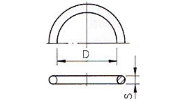O-ring 40,64x5,33 mm EPDM for the union 40mm short model