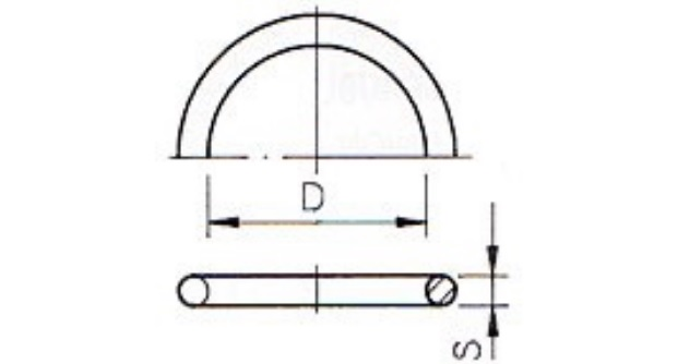 O-ring 117,5x5,33 mm EPDM for the union 110mm short model