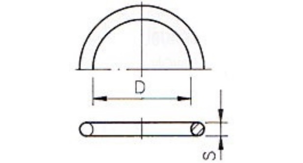 O-ring 59,69 x 5,33 mm for union 63 Viton