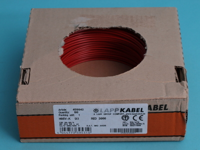 Mounting wire  1,5  mm    red