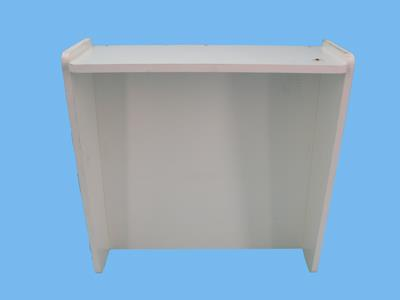 Plaque b 150 xh100 + shed white
