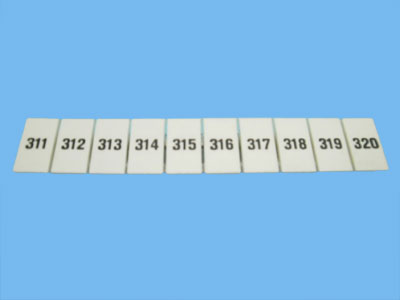 Numbering strips zb 6-lgs- 311-320