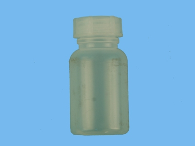 Wide neck bottle with a cap 100 ml
