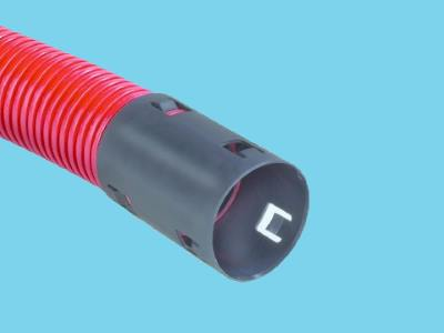 Cable protection tube PE 125x9.0mm red roll 50m