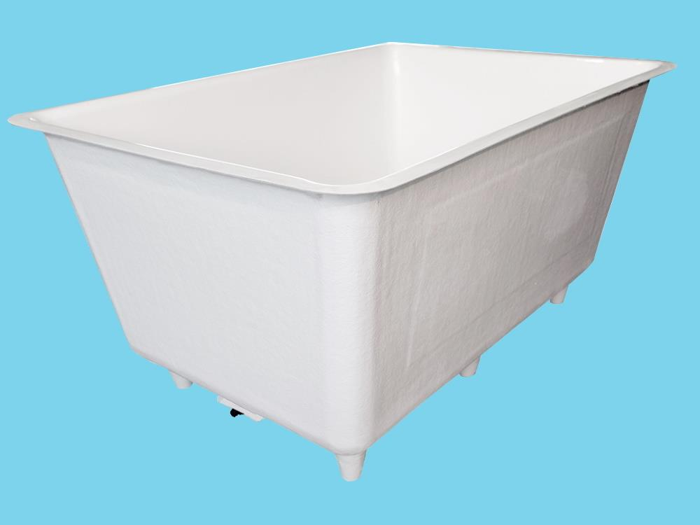 Polyester container 10.000L 325x325x130cm on legs+sink