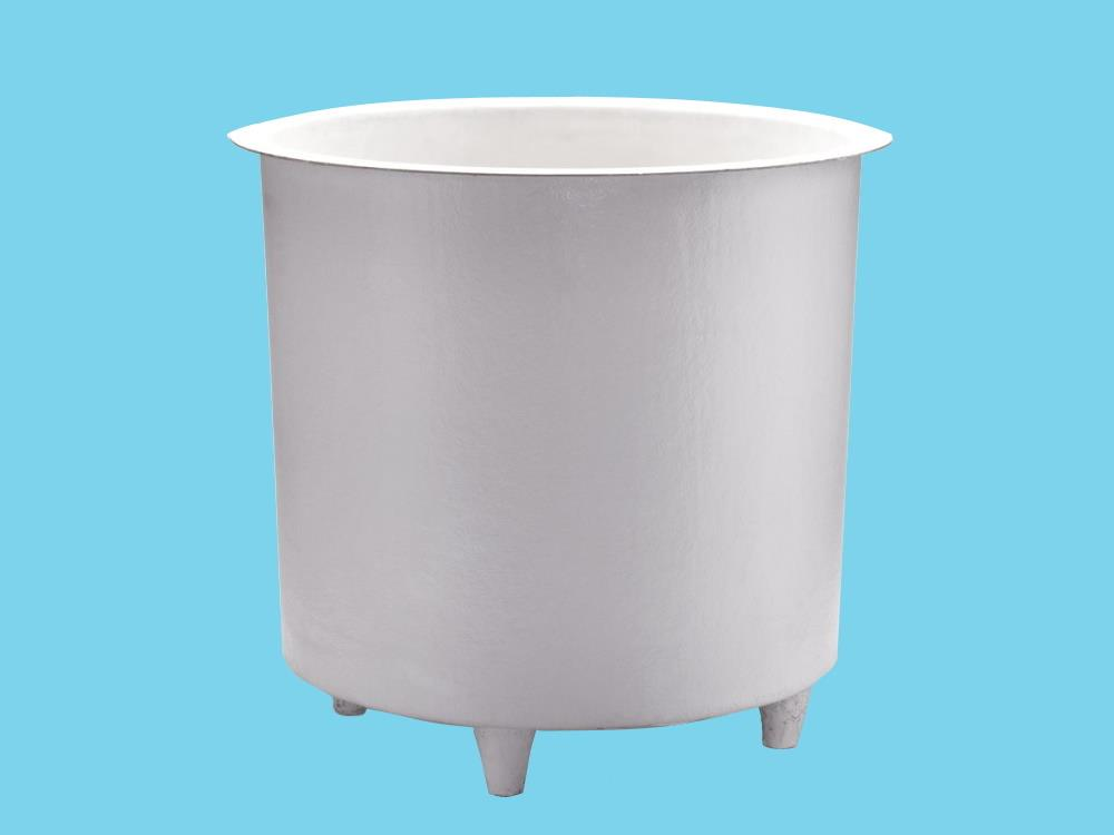 Polyester container 1800L round Ø160x110cm heigh - on legs