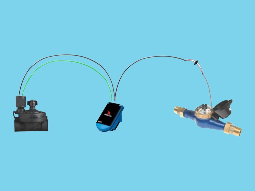 Autom. volume valve-set - 7 m3/h - 1 pulse/liter - 1