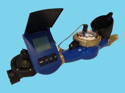 Autom. volume valve-set - 20 m3/h - 1 pulse/10 liter - 1,5