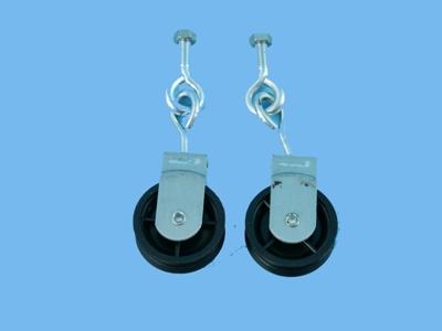 V pulley with screw eye + bolt    nr41