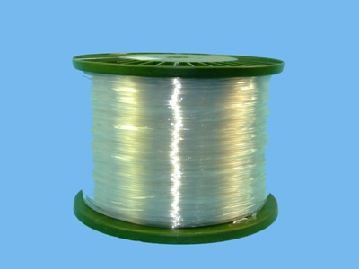 Polyester wire 2,2 mm clear  ,  1800  mtr/roll
