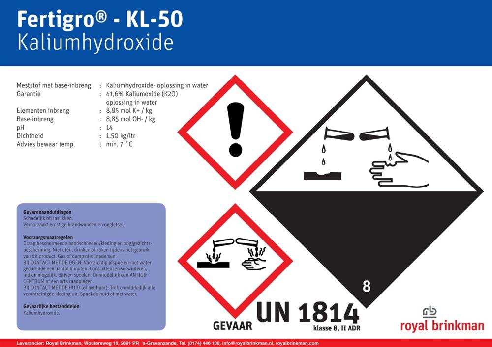 Fertigro KL-50 IBC 906 ltr/1350 kg EXP
