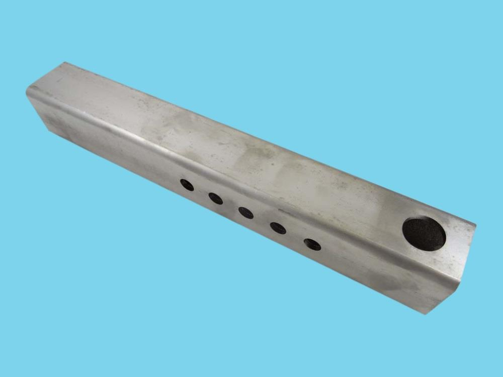 Stainless steel support for swivel castor M20