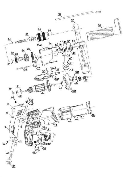 TE-ID 1050 CE Impact drill