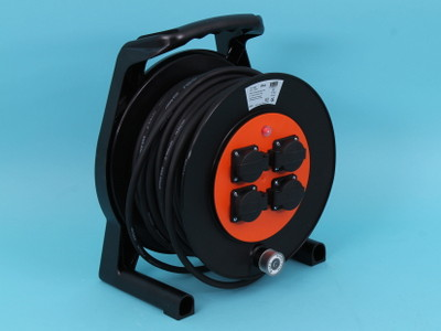 Cable reel 40mtr rubber 3x2,5