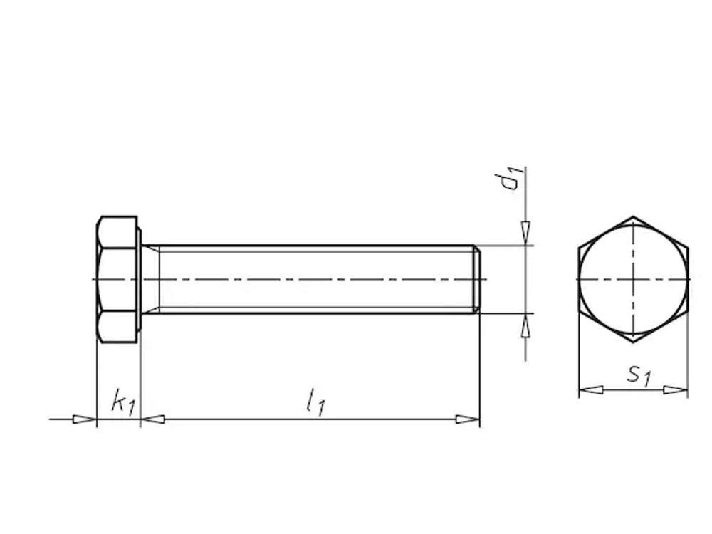 Elect galvanized 8.8 six way bolt 20x220