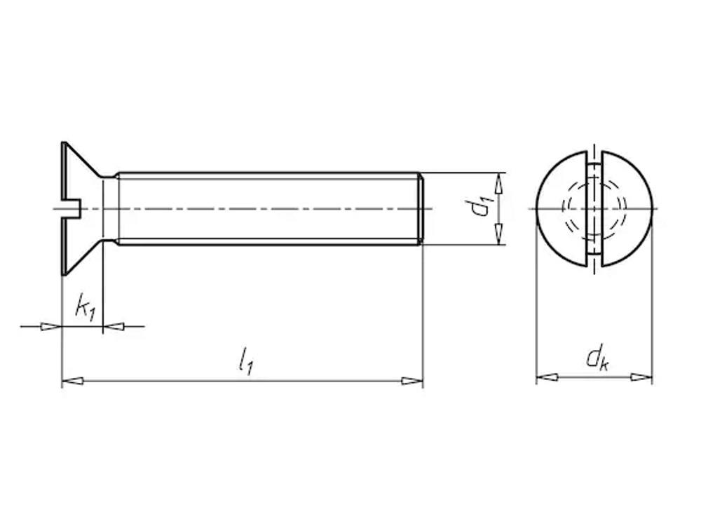 Elect galvanised 4.8  metal screw 3x30