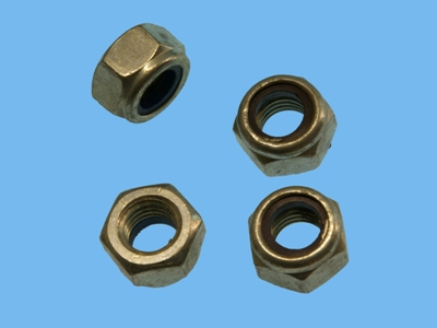 Elect galvanized lock nuts m5