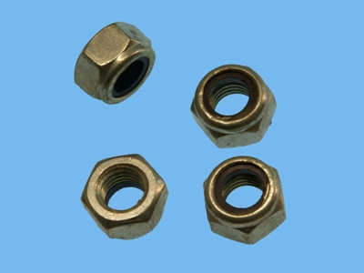 Elect galvanized lock nuts m6