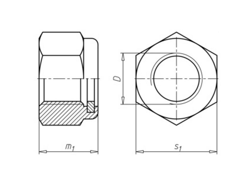 Elect galvanized lock nuts m12
