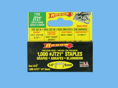 Staples 1/4 jt 21 arrow  1000