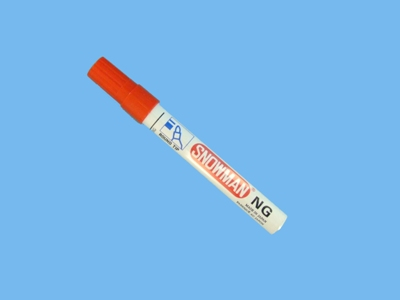 Marker Snowman small red