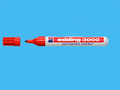 Marker pen Edding 3000 red (10)