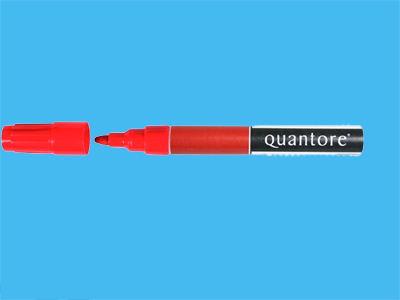 Marker Quantore 3000 red permanent (10)
