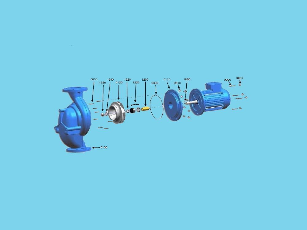 Repair sealset Johnson CL pump CL 32-125