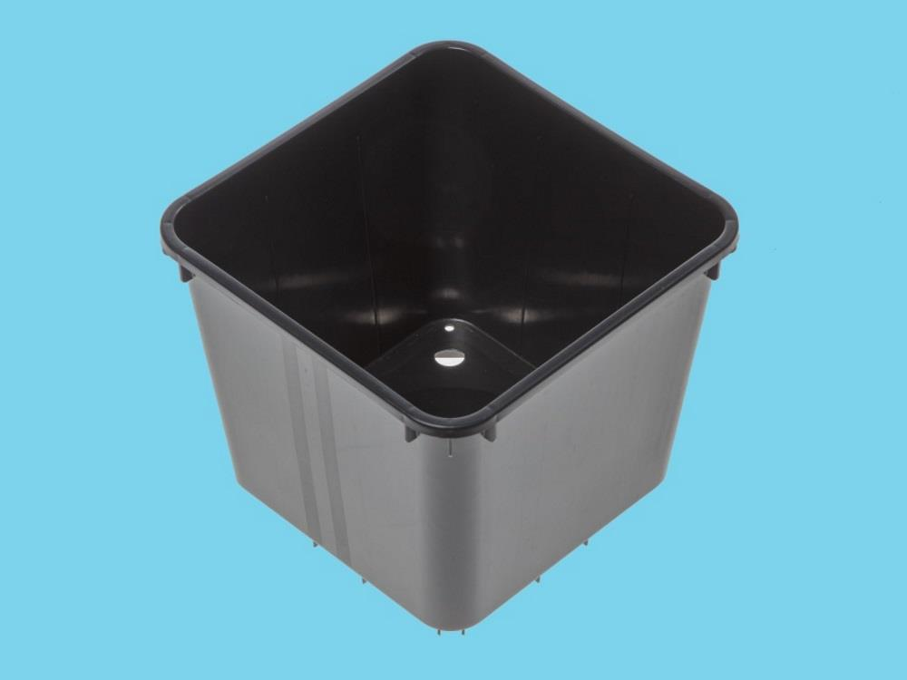 4.7 litre square pot standard black
