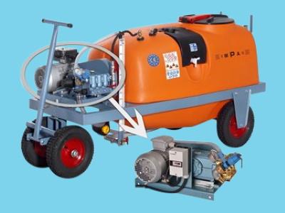 Georgia spraying trolley 600ltr 21ltr/55bar-Elek 400V WS102