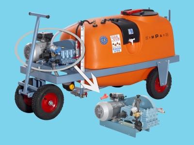 Georgia spraying trolley  600ltr 70ltr/50bar-400V AB90 Empas