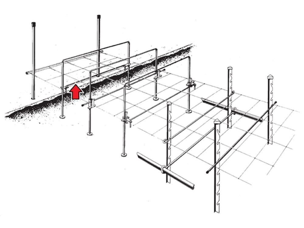 Cross girders 121cmx7mm two legs: 4cm 10mz
