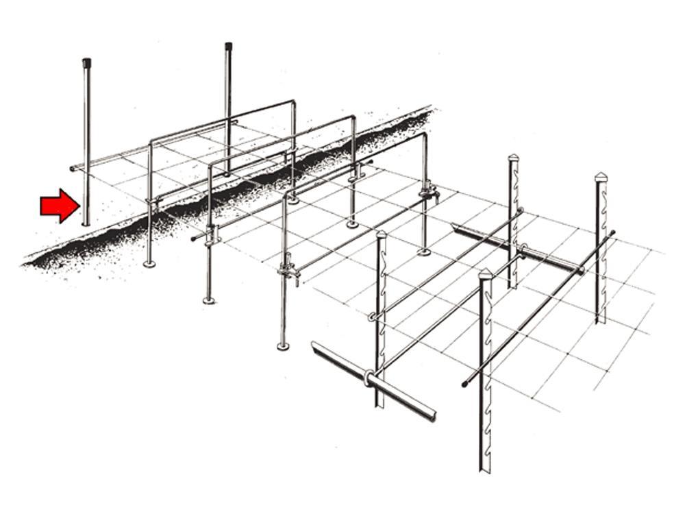 Uprights sens 30x2mm 250