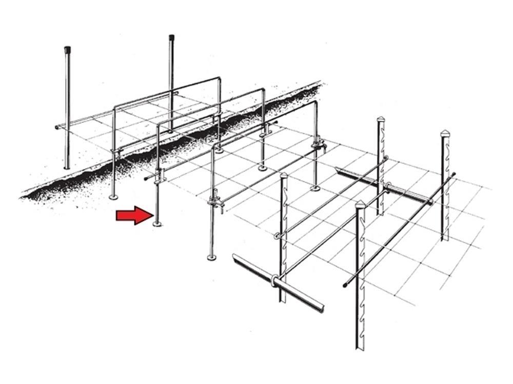 Upright sens 13x1 r4/30 120cm