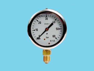 "Manometer 0-400bar 1/4"" bottom connection glycerin"