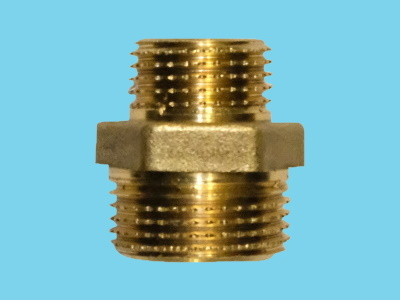 "Reduction nipple brass 3/4"" - 1/2"" out-out"