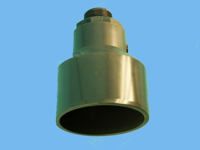 "Steam hose connector PVC 5"" - 125 mm x - 5/4"" outside"