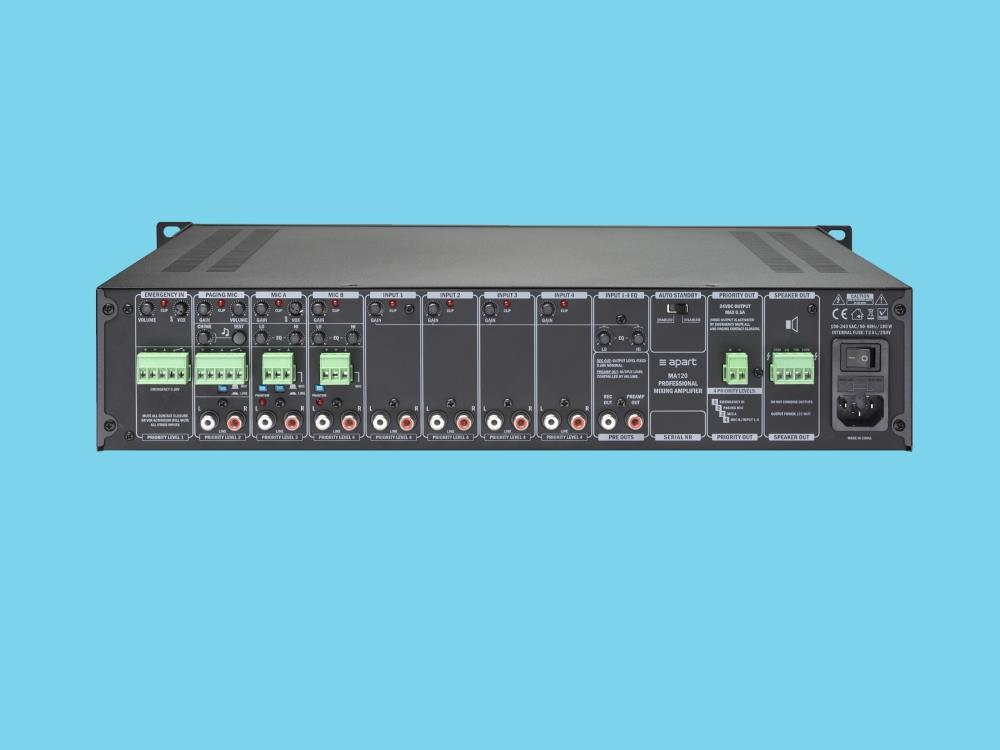 Mixing amplifier 120 watts