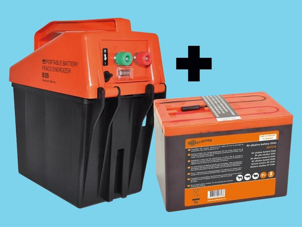 Gallagher Powerpack 9V Energiser Battery 175Ah