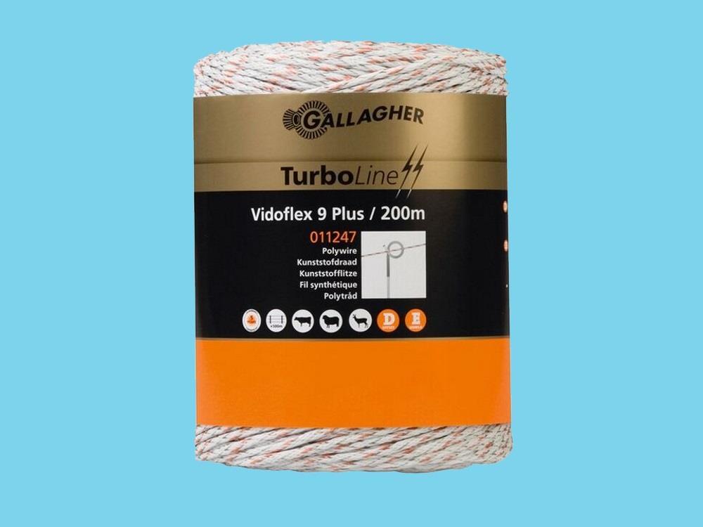 Wire electric fence Vidoflex 9 white 200m Turboline plus