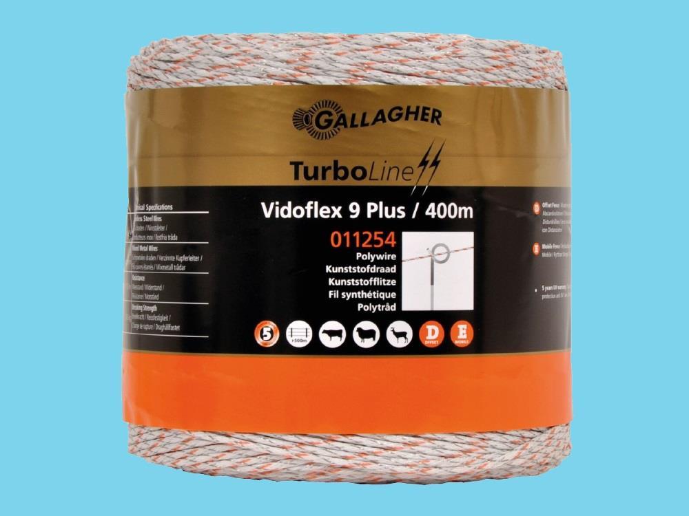 Wire electric fence Vidoflex 9 white 400m Turboline plus