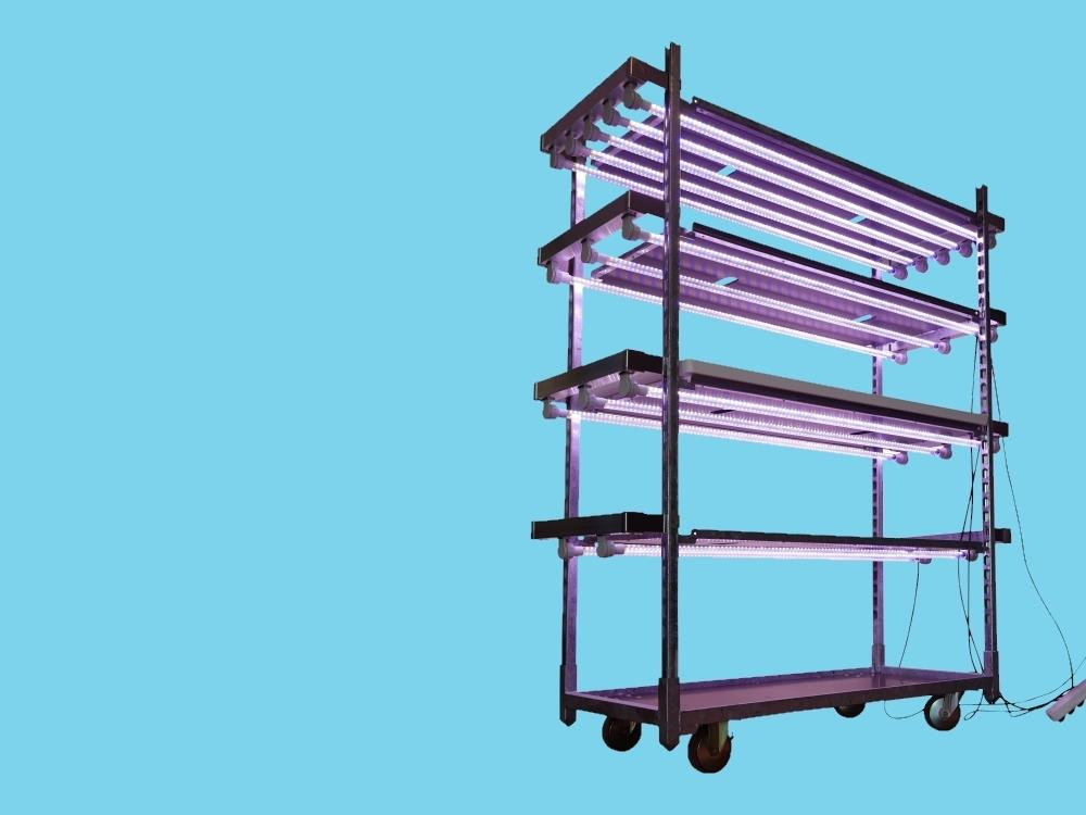 Plug & Play lamp on a Danish trolley 3 lamps AGRO LED
