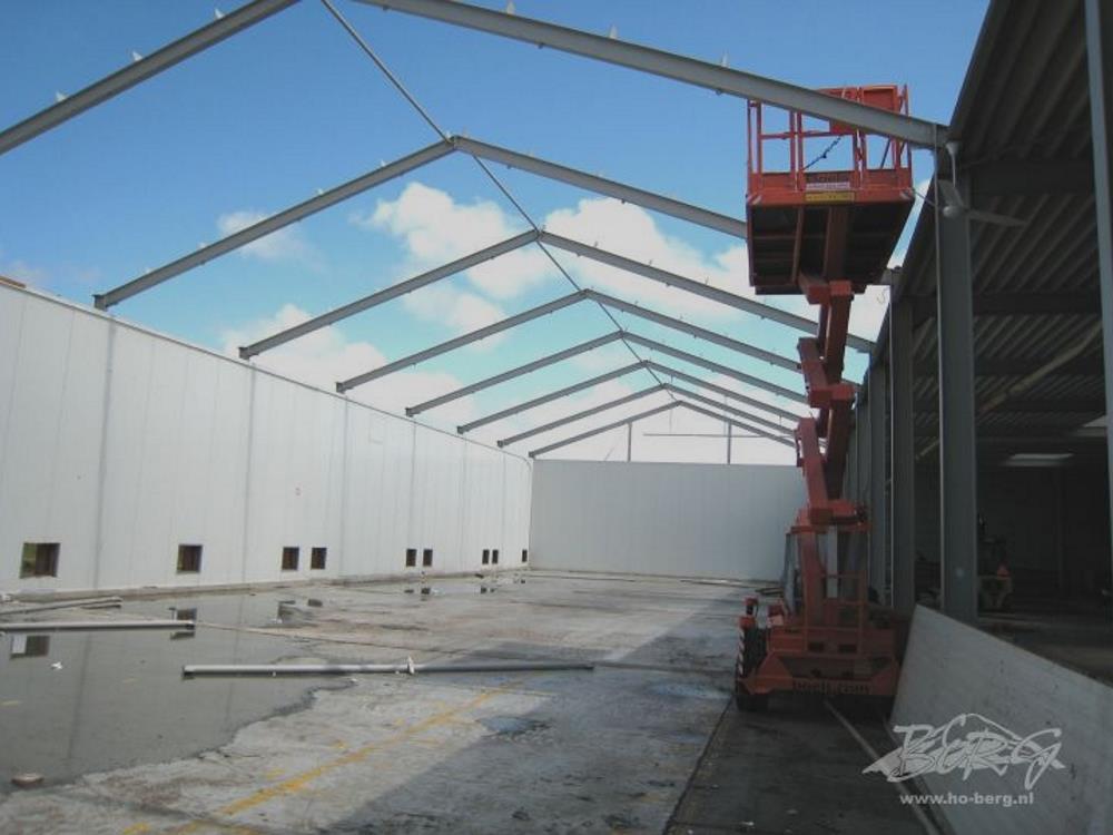 Construction industrial hall steel 9,6m x 24m HO Berg