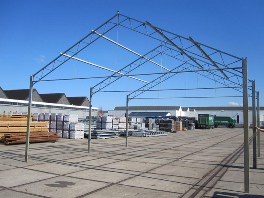 Construction industrial hall steel 8,0m x 16m HO Berg