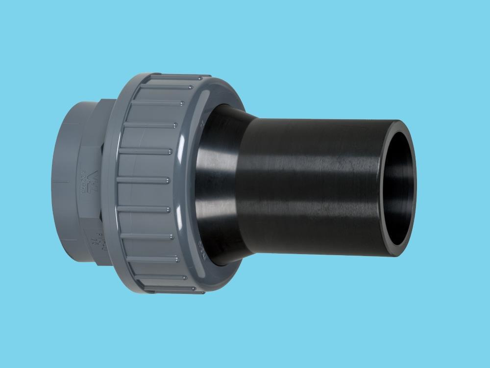Adaptor union pvc-pe 63mm - sdr17